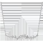 Verkauf Collier Verzauberter Garten - Königliches Blattwerk - Weißgold und Diamanten - 9 Karat