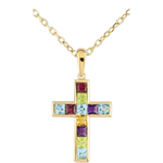 women Colour Cross Pendant