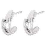 wedding Contemporary arch earrings-white gold