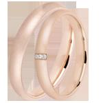 vendite on-line Coppia di Fedi Nuziali Supremo 3 diamanti