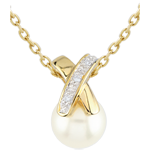 gift women Cross-shaped Pearl Pendant