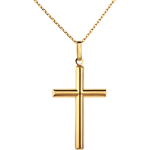 Cruce tub - aur galben de 18K