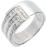 on line sell Cubic diamond paved ring white - 17diamonds