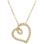 sell Curved Heart Necklace