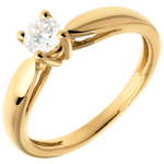 women Curved Solitaire ring - 0.31 carat