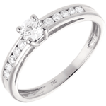 sales on line Decadence Diamond Set Shoulder Ring white gold - 0.39 carat - 11 diamonds