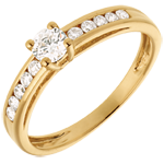 on-line buy Decadence Side Stone Ring yellow gold - 0.39 carat - 11 diamonds