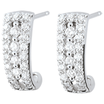 gold jewelry Destiny Hoop Earrings - Medici - diamonds and 9 carat white gold