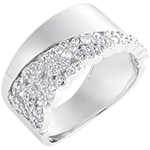 Destiny Ring - Constancy - 9K white gold and diamonds