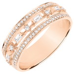 Destiny Ring - Little Empress - 68 diamonds - pink gold 18 carats