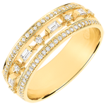 gifts Destiny Ring - Little Empress - 68 diamonds - yellow gold 9 carats