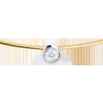 Geschenke Diamant-Collier Flohdiamant in Gelb- und Weissgold
