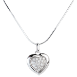 Diamantanhänger Sweet Heart Blanc - 18 Diamanten