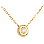Diamantcollier Kelch in Gelbgold