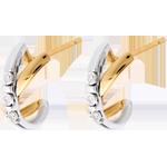 Geschenke Frau Diamanten Ohrringe in Weiß- und Gelbgold - 6 Diamanten