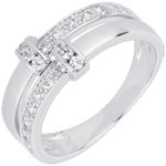 Geschenk Frau Diamantring Istria in Weißgold