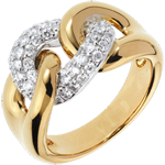 Diamantring Lien Infini in Gelbgold