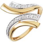 Frau Diamantring Nofretete - Weißgold mit 5 Diamanten