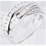 Juweliere Diamantring Schicksal - Flechtwerk - Weißgold - 0.63 Karat - 38 Diamanten - 18 Karat