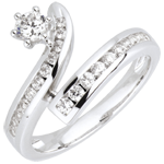 Hochzeit Diamantring Sternschnuppe in Weißgold