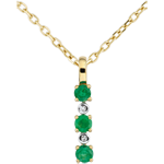 Diamond and Emerald Clarisse Pendant