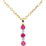 wedding Diamond and Ruby Clarisse Pendant