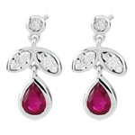 Diamond and Ruby Hesmé Earrings