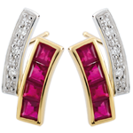 Diamond and Ruby Kiona Earrings