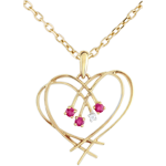 present Diamond and Ruby Sparkles Heart Pendant