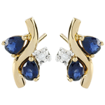 gift woman Diamond and Sapphire Algoma Earrings