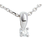 Diamond bow pendant white gold