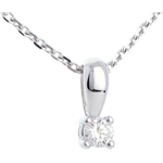 sell on line Diamond bow pendant white gold