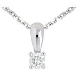 Diamond drop pendant white gold