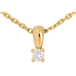 Diamond drop pendant yellow gold