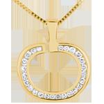 Geschenke Diapple Anhänger Gelbgold