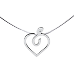 Diapple necklace - 9 carat white gold