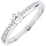 women Divine Solitaire Ring - 6 prongs - central diamond: 0.165 carat