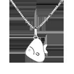 Dolce pesciolino - modello grande - Oro bianco - 18 carati - Diamante