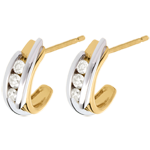 sales on line Double-arch trilogy earrings - 0.3 carat - 6 diamonds