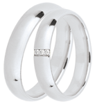 gift woman Duo d'alliances Extra 3 diamants