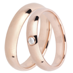 weddings Duo d'alliances Royal 1 diamant