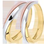 mariages Duo d'alliances Saturne Trilogy - 3 ors - 18 carats