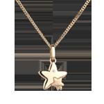 Duo sterren - klein model - geel goud