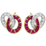 sales on line Duorama Diamond and Ruby Earrings