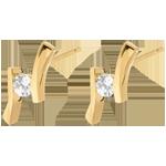 Earring Precious Nest - Apostrophe (very big model) - yellow gold - 0.31 carats - 18 carats