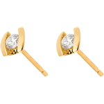 on line sell Earring Precious Nest - Caldera - yellow gold - 0.21 carat - 18 carats