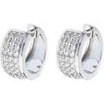 present Earrings Constellation - Astral - large size - paved white gold - 0.43 carat - 54 diamonds