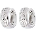 gifts women Earrings Constellation - Astral - small size - paved white gold - 0.22 carat - 32 diamonds