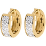 buy on line Earrings Constellation - Astral variation - small size - yellow gold - 0.12 carat - 24 diamonds