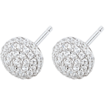 gifts women Earrings Destiny - Olga - white gold and diamonds